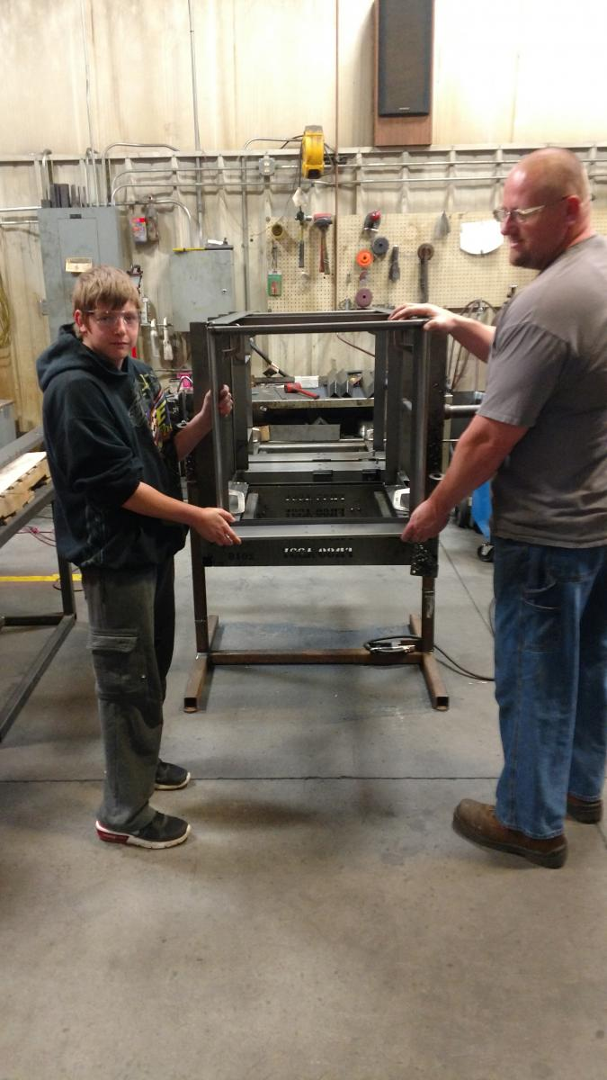 BHS Student at Precise Fabrication in Beatrice