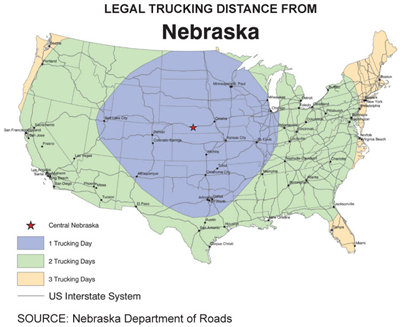 Trucking map